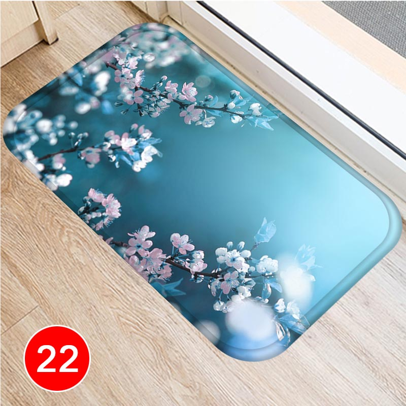 Flower Pattern Floor Mat Carpets Floor Rug Kitchen Living Bathroom Non slip Backing DC120 in Carpet from Home Garden