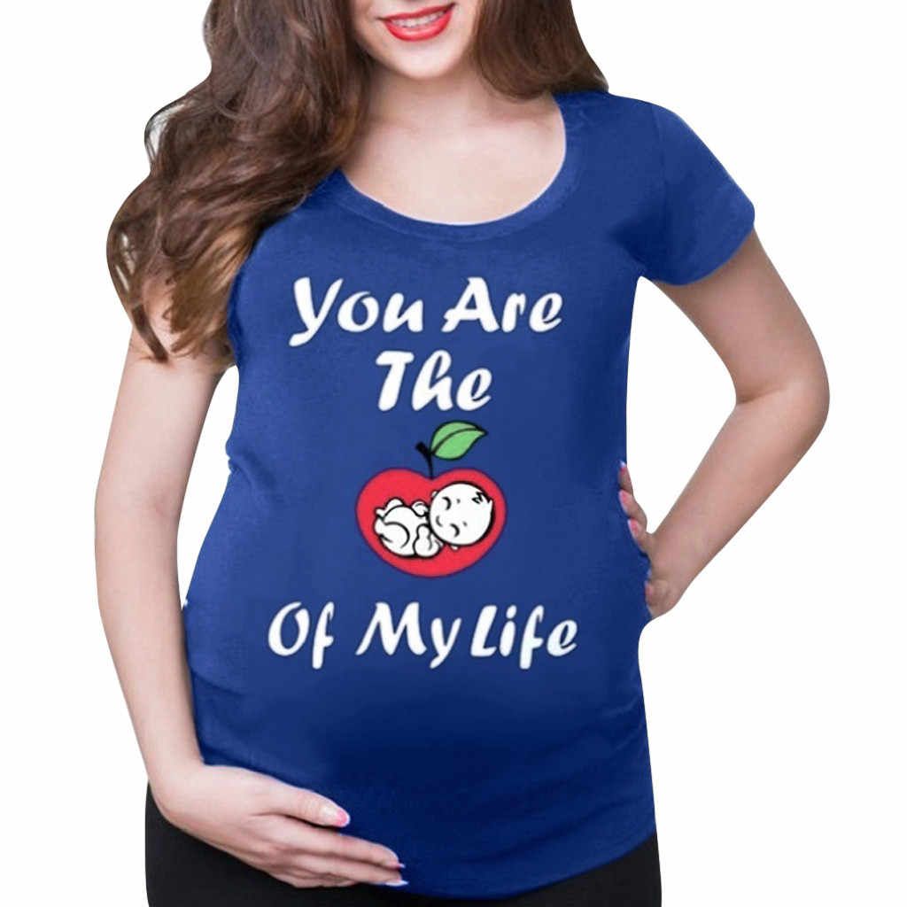 Для будующих мам Для женщин короткий рукав милый ребенок детская одежда с мультяшными узорами Топы Lactancia Ropa летняя повседневная одежда для Для женщин S-2XL