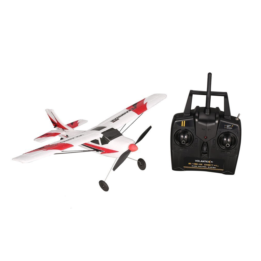 Image 5 - VOLANTEX V761 1 2.4Ghz 3CH Mini Trainstar 6 Axis Remote Control RC Airplane Fixed Wing Drone Plane RTF for Kids Gift Present-in RC Airplanes from Toys & Hobbies