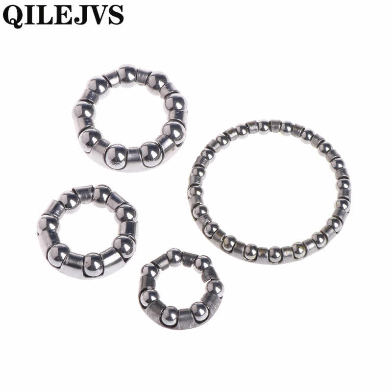 QILEJVS Bicycle Headset Steel Balls Bowl Group Set Frame Front Fork Rear Pearl Retainers  Headset Steel Balls