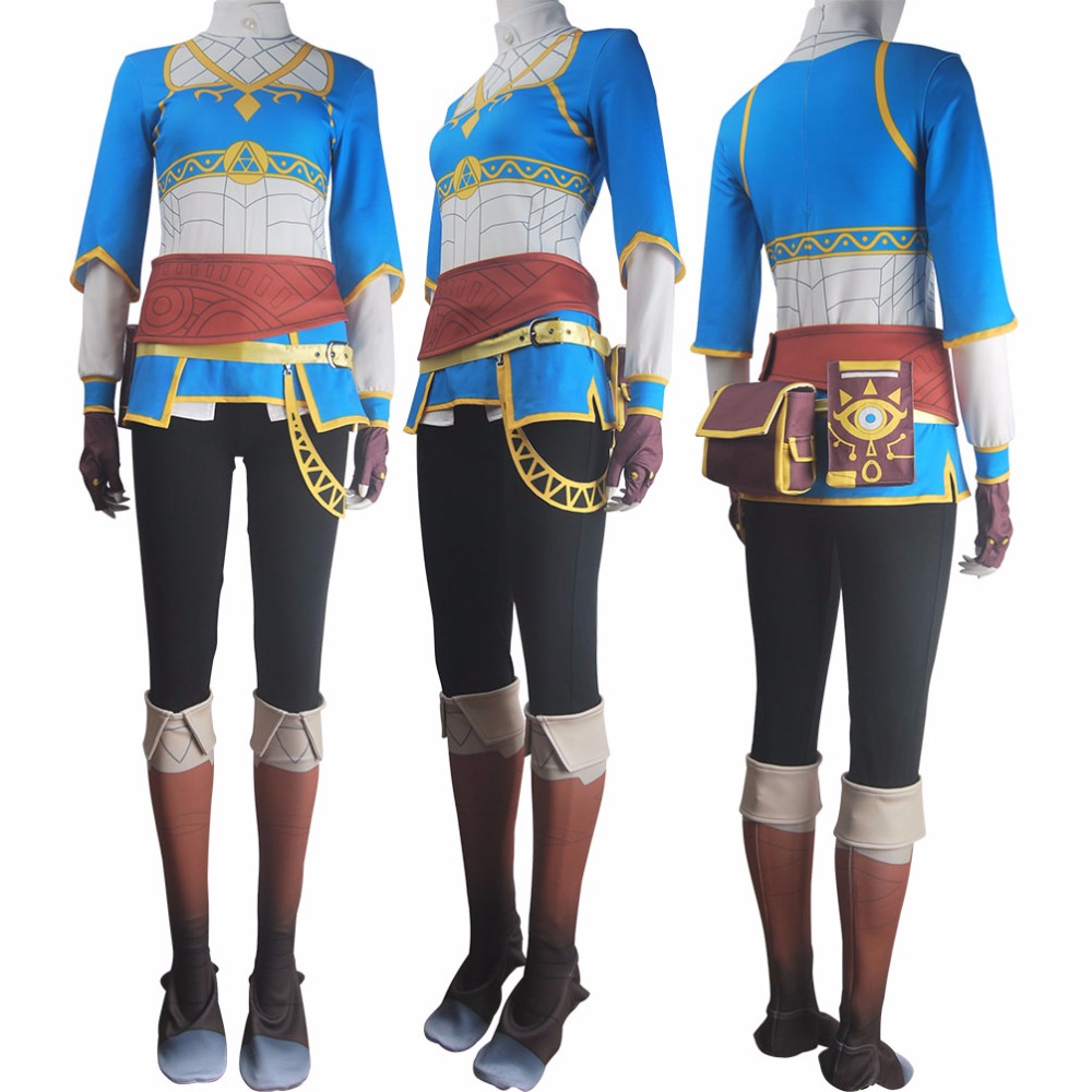 The Legend of Zelda Twilight Princess Link uniform cosplay costume  made NN.12