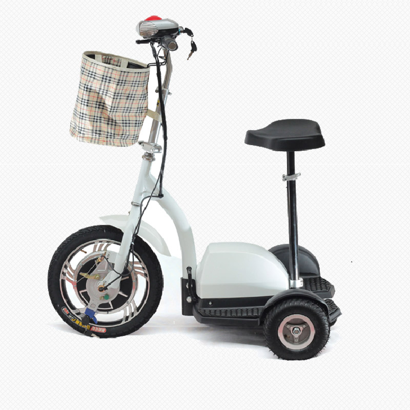 36V 350W Three Wheel Electric Scooter Motorized Scooter  Ride Standing Up or Siting Down Without Battery economic multifunction 60v 500w three wheel electric scooter handicapped e scooter with powerful motor