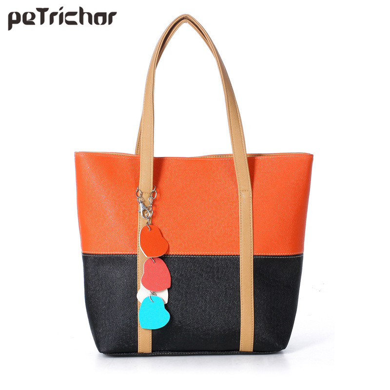 Fashion Women PU Leather Shoulder Bags Casual Tote Handbags Sac A Main Marques Bolsos Mujer