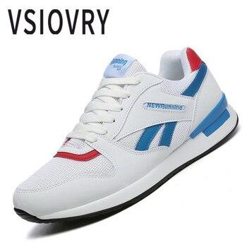 Na co dzień męskie buty sportowe Fly dzianiny płótno do biegania wiosna oddychające nowe buty koreański styl niskie góry, wytrzymałe Flywire buty