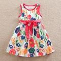 2016 Retail new summer dress sleeveless kids Clothes floral girl dress Cute christmas Baby girl clothes princess Dresses SH6296