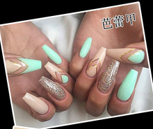 Ballerina Square Full Cover False Nail