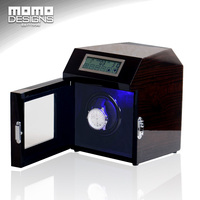 Single Slots Automatic Luxury Wooden Watch Winder Storage Box New Watch Winder With LED Light Motor