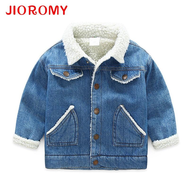 Outerwear Coats Jackets Clothing Boys Winter Children Velvet Thick Gentleman Cowboy JIOROMY