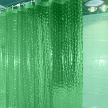 Curtains Waterproof Bathroom Plastic PEVA Thickened 3D Household