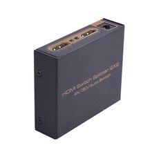 2017 высокое качество 2X2 Переключатель HDMI Splitter 2 Вход 2 Выход Поддержка 3D/4 К * 2 К HDMI автоматическое переключение с Мощность адаптер Бесплатная доставка