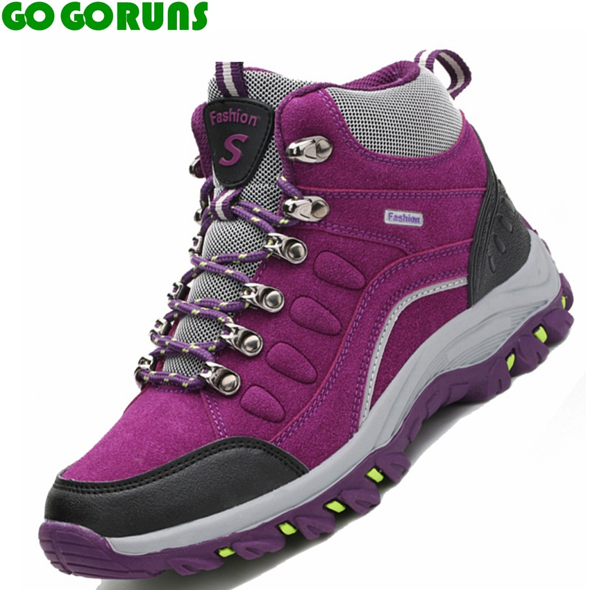 winter high top hiking shoes women outdoor waterproof. Black Bedroom Furniture Sets. Home Design Ideas