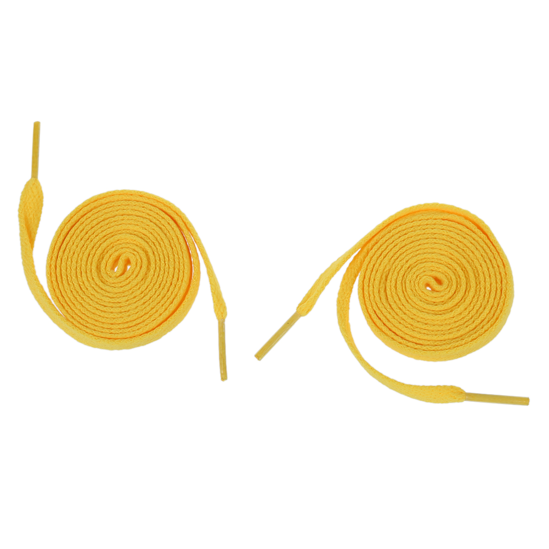 NEWBRAND Pair Yellow Flat Strings Wide Shoelaces For  Shoes