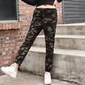 2017 Women Casual Pants Spring Elastic Plus Size Military Camouflage Women Pants SlimFit Joggers For Women Spandex Pants Elegant