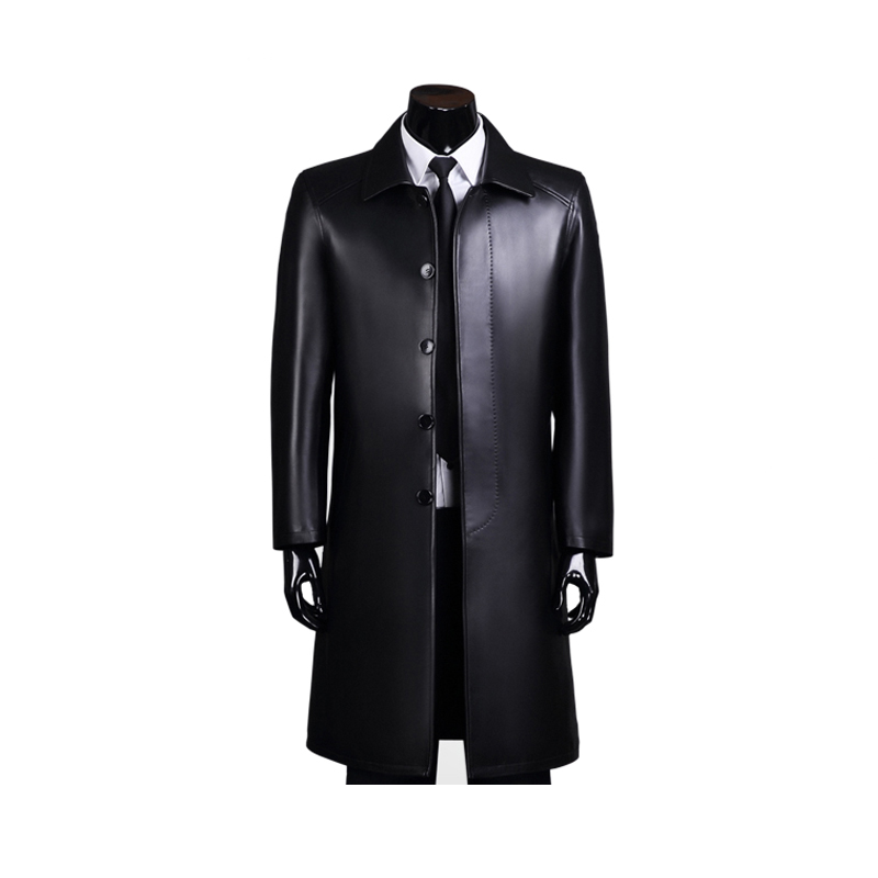 Männer echtes leder jacke mann schaffell mantel oberbekleidung business  stil herren leder kleidung e82c109789