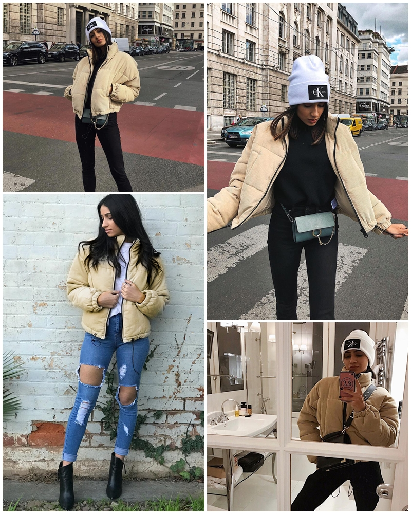 Casual Thick Parka Overcoat Winter Warm Fashion Outerwear Coats Street Wear Jacket coat female 17