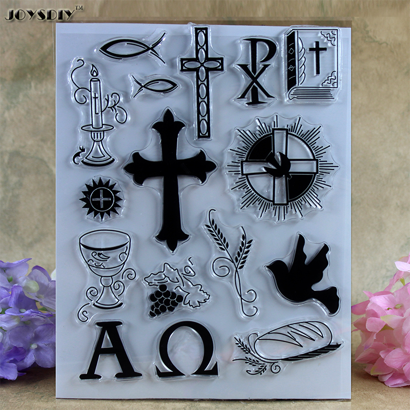 Christianity Cross Bible Grail Scrapbook DIY photo cards account rubber stamp clear stamp transparent stamp card DIY stamp scrapbook diy photo cards account rubber stamp clear stamp finished transparent chapter merry bright christmas 19 5x23 5cm sd162