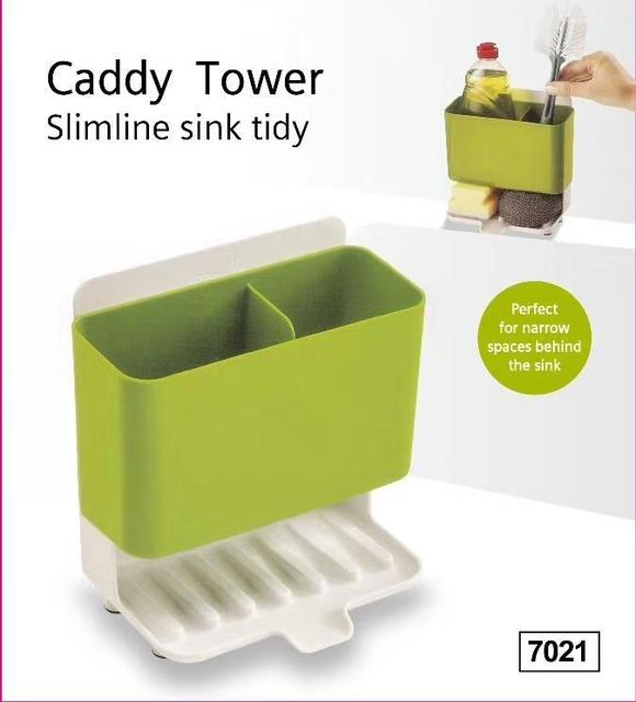 Caddy Tower Slimline Sink Kitchen Organizer Sponge Holder Dishwasher