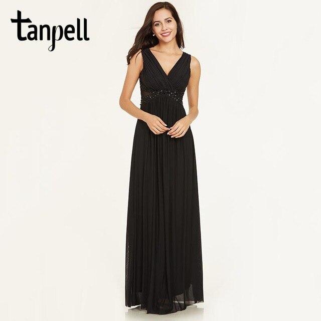 d4304c4b97a Tanpell v cou dos nu robe de soirée pas cher noir une ligne étage longueur  robe