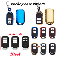 Protective Covers 10set Key Case shell Key Chain Smart Remote 2/3/4 buttons Car styling for Honda CR V 2017 Pilot Vezel CRIDER