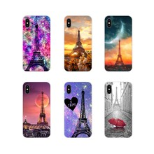 Accessories Phone Cases Covers For Samsung Galaxy S4 S5 MINI S6 S7 edge S8 S9 S10 Plus Note 3 4 5 8 9 Love Paris Eiffel Tower(China)