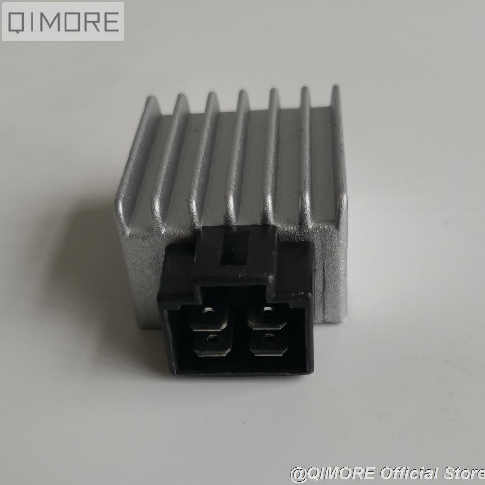 12v 4pin Voltage Regulator Rectifier GY6 QMB139 50cc Scooter Moped ATV New