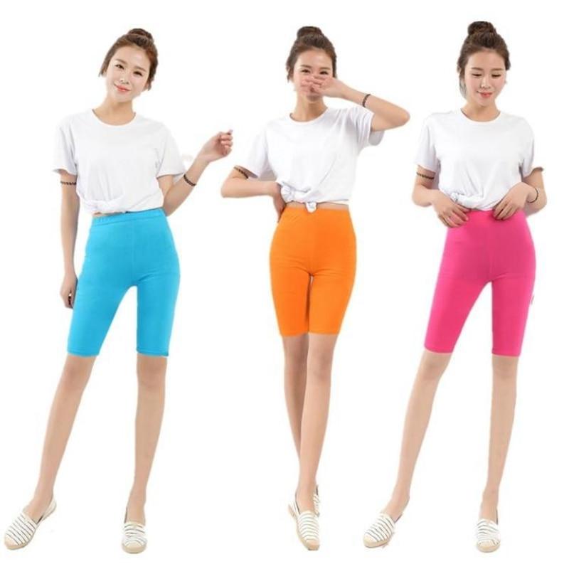 Women Leggings Summer Style Modal Fertilizer Plus Size 5XL  Candy Color Women's Knee Length Pants