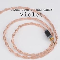 Moondrop Lyre Acoustics-Violet 6N OCC 0.78 Double Pin 3.5mm Single End/2.5mm Balance/4.4mm Balance Plug earphone Upgrade cable