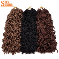 Silky Strands 24strands 24 Crochet Hair Goddess Wavy Faux Locs Crochet Twist Braids Hair Extension Kanekalon