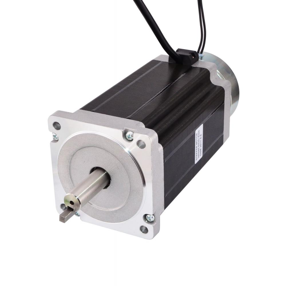 Nema 34 Stepper Motor 13.0Nm(1841oz.in) with Brake 5A 4-lead Body Length 151.5mm Nema34 Stepping MotorNema 34 Stepper Motor 13.0Nm(1841oz.in) with Brake 5A 4-lead Body Length 151.5mm Nema34 Stepping Motor