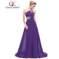 Grace Karin Popular Long One Shoulder Formal Evening Party Bridesmaid Dress CL2949