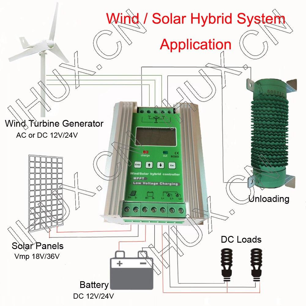 HOT SALE] MPPT Wind Solar Hybrid Charge Controller 12V 24V