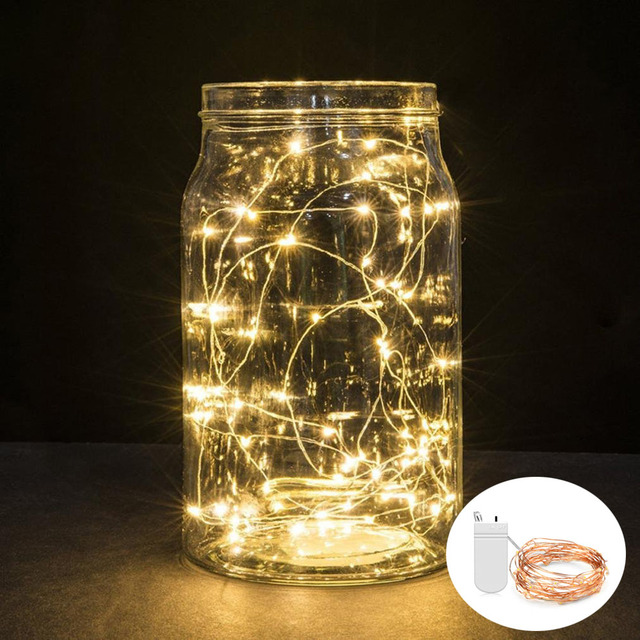 LED String Lights 2M 5M Copper Wire Lamp Christmas Lights Indoor ...