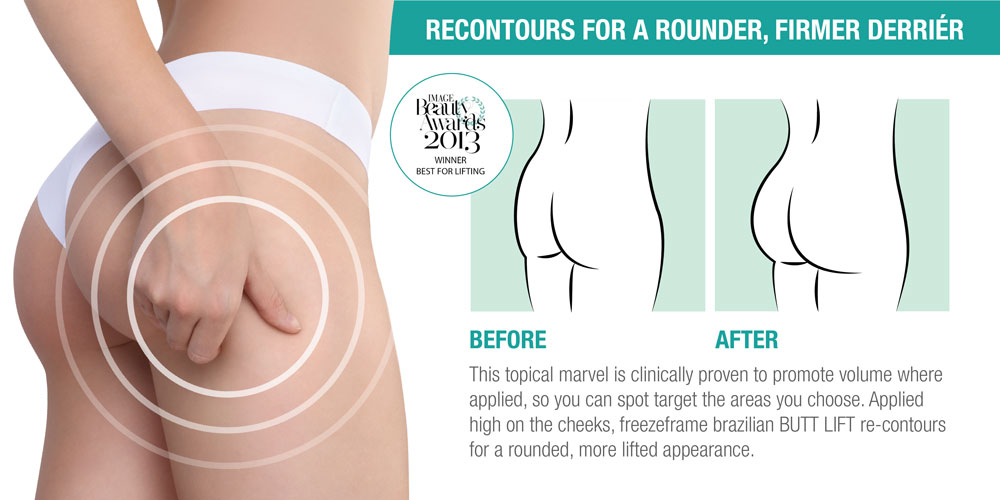 Freezeframe Brazilian Butt Lift, Re-contours for Full Firm &Rounded Curves Reduce pancake butt 4