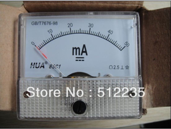 Ammeter 0-50mA Using For Laser Cutting And Engraving Machine