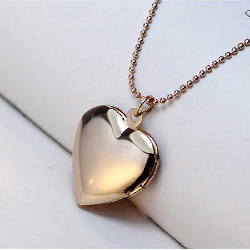 SUTEYI Foto Rahmen Speicher Medaillon Halskette Silber/Gold Farbe Anhänger Haustier Katze Hund Pfote Fußabdruck Halskette Schmuck Mutter tag Geschenk
