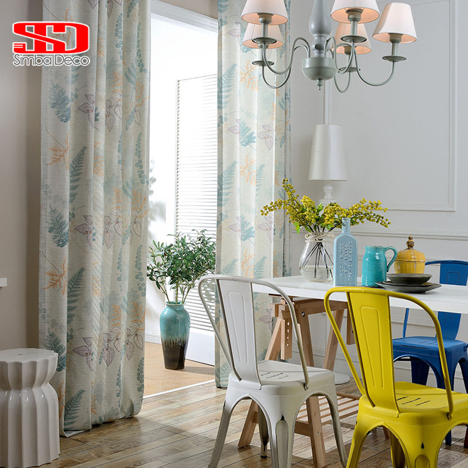 Kids Room Curtains For Living Room Butterfly Leaf Cotton Linen Cortinas Blackout  Drapes For Children Room Blinds Window Panels