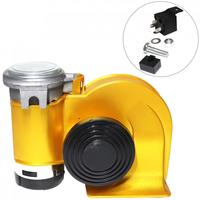 Waterproof 12V 139dB Car Lacquer Gold Snail Compact Dual Air Horn For Car Vehicle Motorcycle Yacht