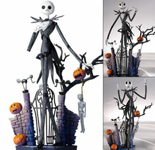 SCI FI Revoltech Series NO.005 The Nightmare Before Christmas Jack Skellington PVC Action Figure Collectible Model Toy