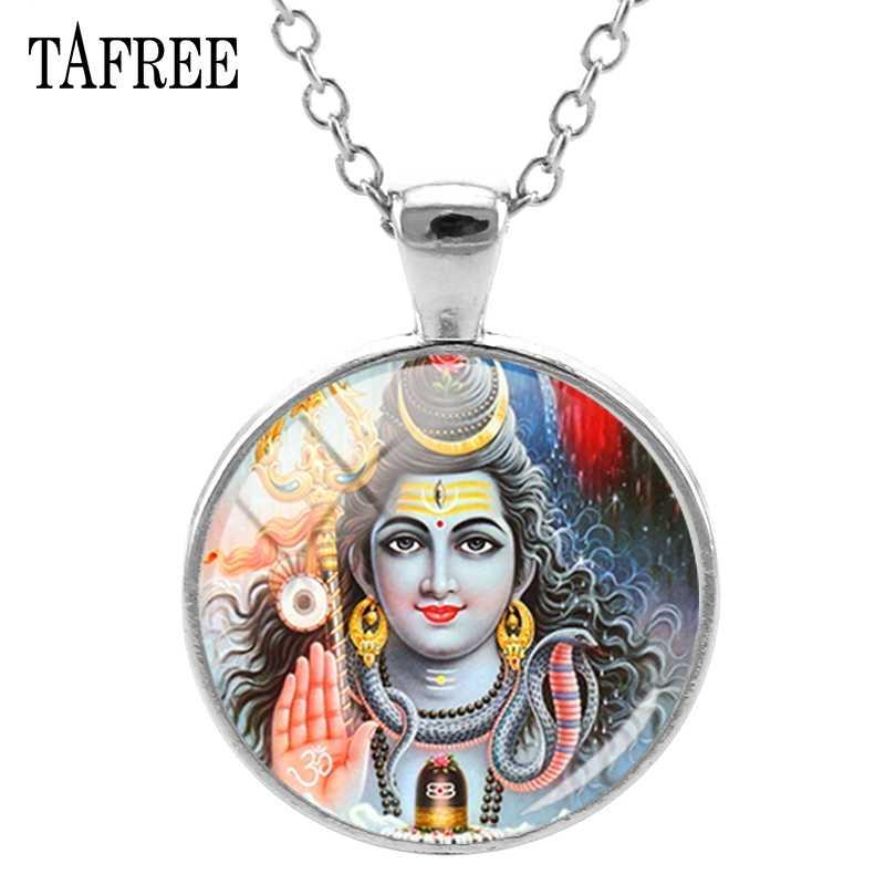 Tafree Hindu Tuhan Buddha Tuhan Shiva Liontin Kalung Yang Hot Jual Panjang Kalung Liontin Kalung Pernyataan Perhiasan LS61
