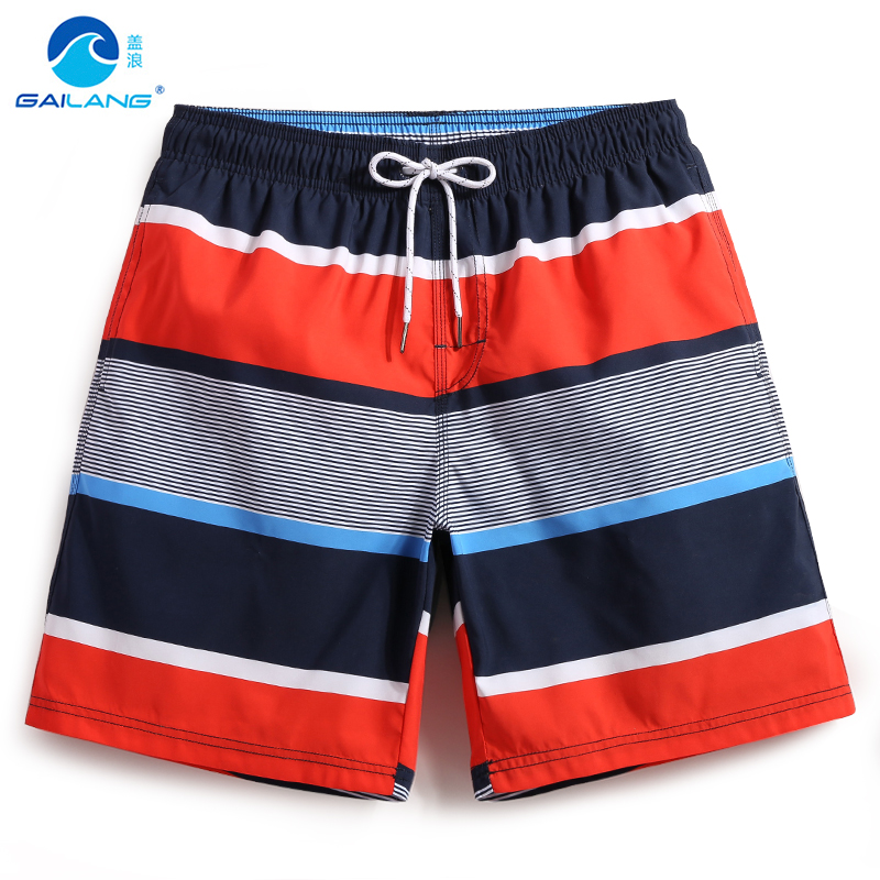 Men's summer bathing suit quick dry surfboard plavky   board     shorts   navy swimsuit hawaiian bermudas joggers liner mesh
