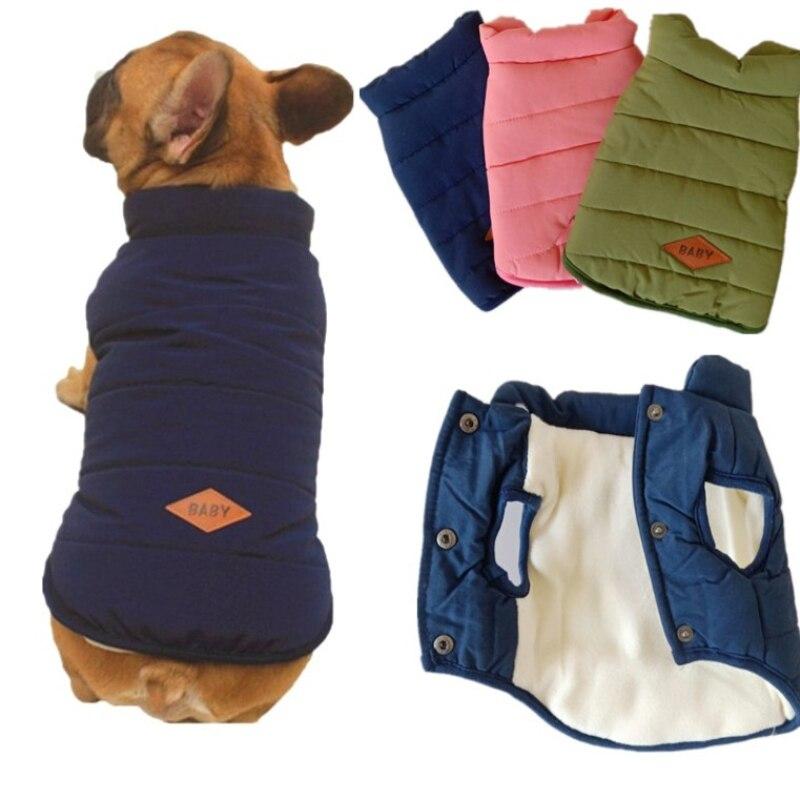 Pet Dog Clothes Winter Coat Jacket Puppy Pug French Bulldog Clothing Poodle Schnauzer Pet Costume Winter Dog Vest Outfit