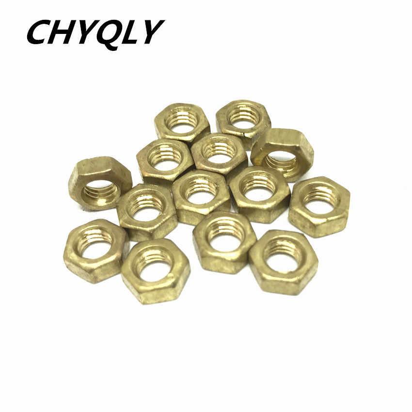 M12 M14 M16 M18 M20 M22 M24 Copper Hexagon Nuts สกรู Hex ทองเหลือง