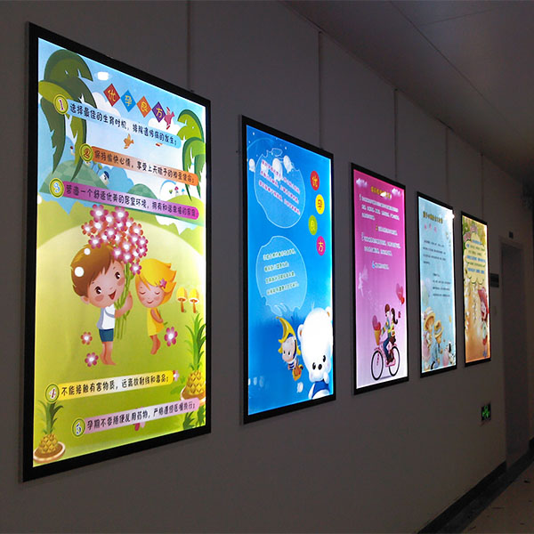 Aluminum Magnetic Frame Slim Led Advertising Light Box And