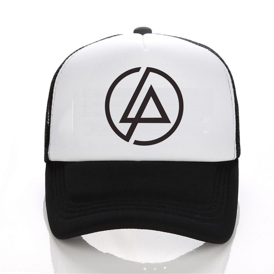 Linkin Park Snapback mesh baseball trucker cap men net cap hip hop Visor fc126430244