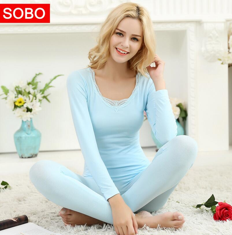 Thermal Women Sets High Quality Elastic Breathable Slim Sexy Warm Underwear Long Johns Sets Women Long Johns