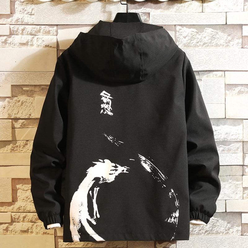 Jacket men 2019 new tooling jacket streetwear fashion printing spring autumn man windbreaker jacket clothes jaqueta masculino(China)