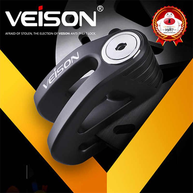 Veison Universal Anti-Theft Motor Stainless Steel Skuter Roda Sepeda Motor Rem Cakram Sepeda Disc Brake Lock DX11