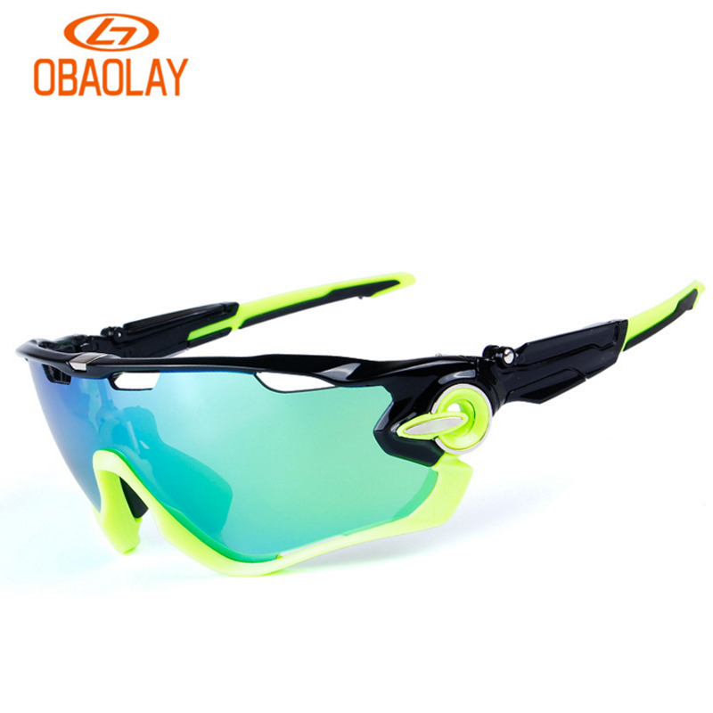 Obaolay TR90 UV400 5 Lens Polarized Cycling Glasses Bike Goggles Outdoor font b Sports b font