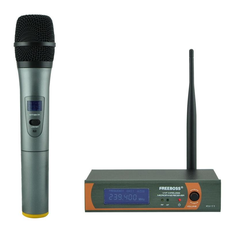 freeboss kv 11 vhf single handheld wireless microphone one way handhold karaoke microphone. Black Bedroom Furniture Sets. Home Design Ideas