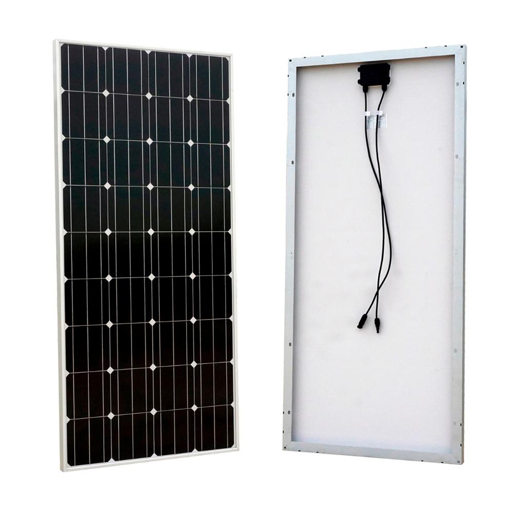 160W 12V RV Mono Monocrystalline Silicon Solar Panel Solar Module for RV Boat Home Battery Charger eco sources 150w 12v rv mono solar panel monocrystalline solar panel for home solar system12v battery off grid